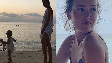 Olga Frycz na wakacjach