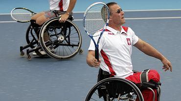 Albin Batycki (z prawej) i Kamil Fabisiak na olimpijskich korcie