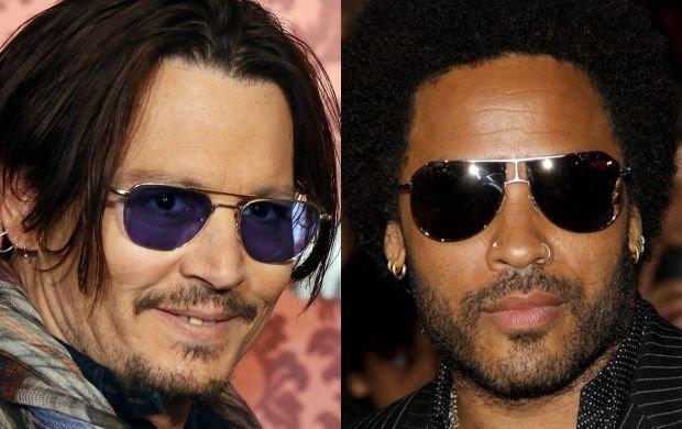 Johny Depp i Lenny Kravitz