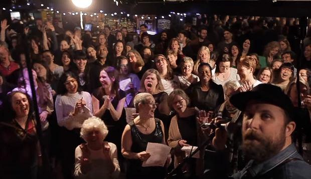 Choir! Choir! Choir! sings Lady Gaga 'Poker Face'