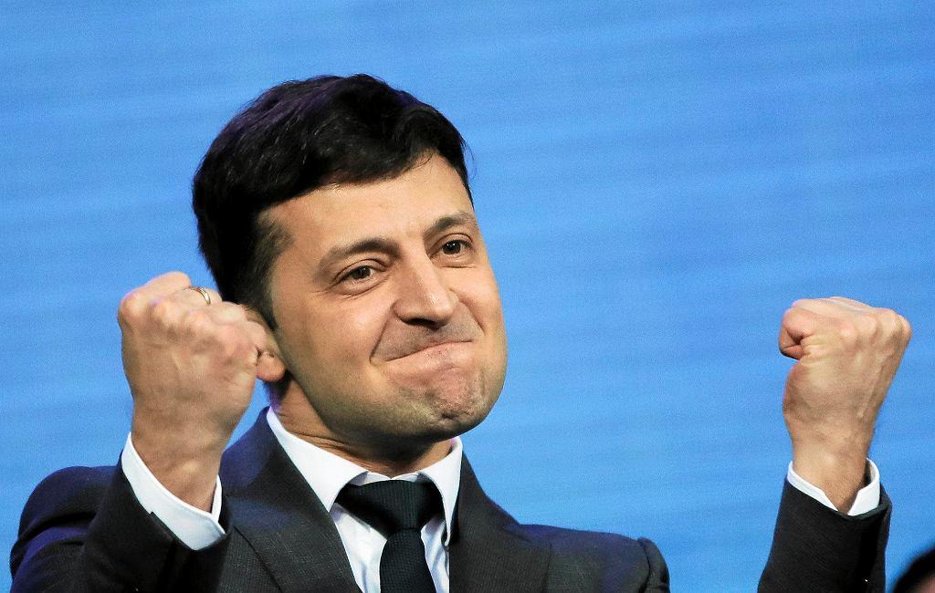 W niedzielnych wyborach prezydenckich na Ukrainie wygrał Wołodymyr Zełenski