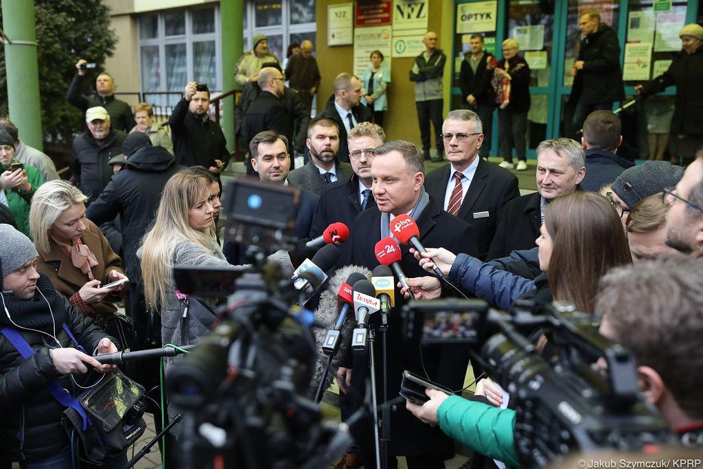 Konferencja prasowa Andrzeja Dudy ws. koronawirusa