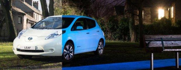 Wideo | Nissan Leaf | Świecący w ciemności