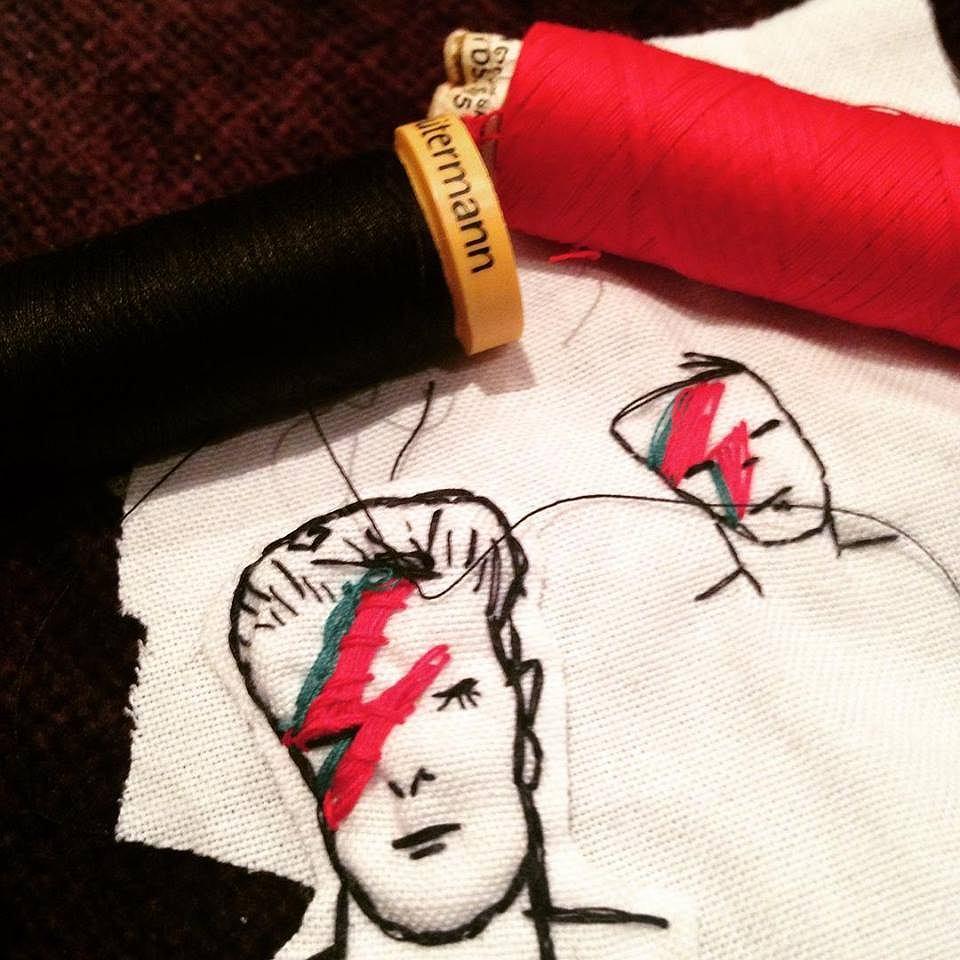 David Bowie haft