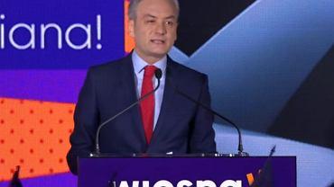 Robert Biedroń podczas konwencji w Poznaniu
