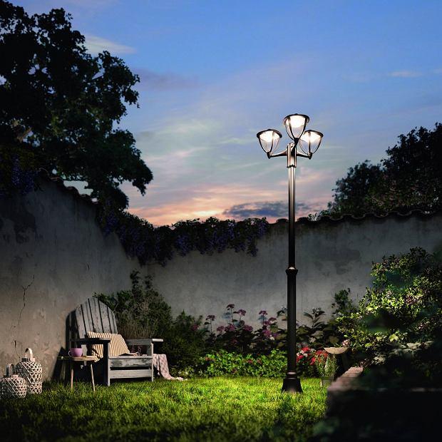 Stylowa lampa stojąca do ogrodu