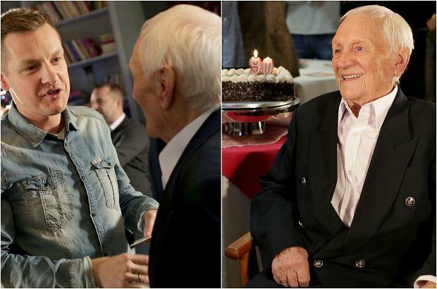 Zdjęcie numer 0 w galerii - Witold Pyrkosz jeszcze w grudniu świętował 90. urodziny z ekipą