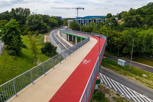 Kładka rowerowa wzdłuż ul. Kamieńskiego