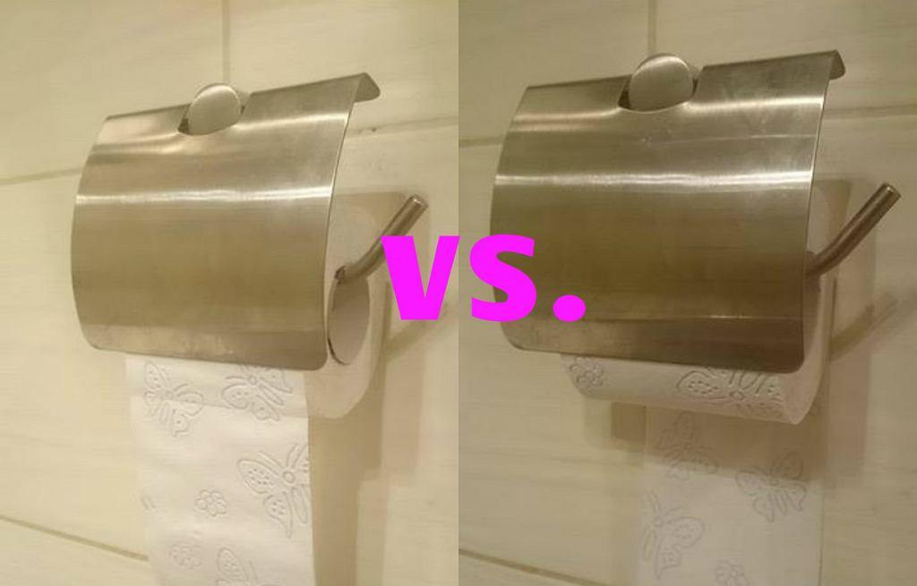 Jak wieszać papier toaletowy?