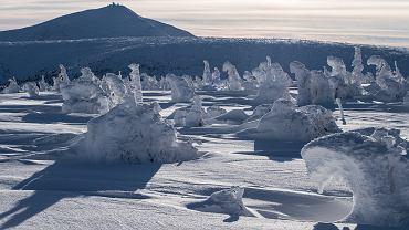 Odczuwalna temperatura na Śnieżce wynosi prawie -30 stopni