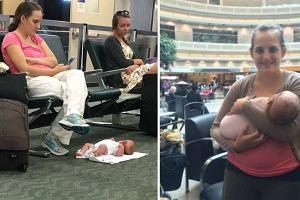 """Bawi się komórką, a dziecko leży na podłodze lotniska. """"Wyrodna matka""""? Nie oceniaj jej pochopnie"""