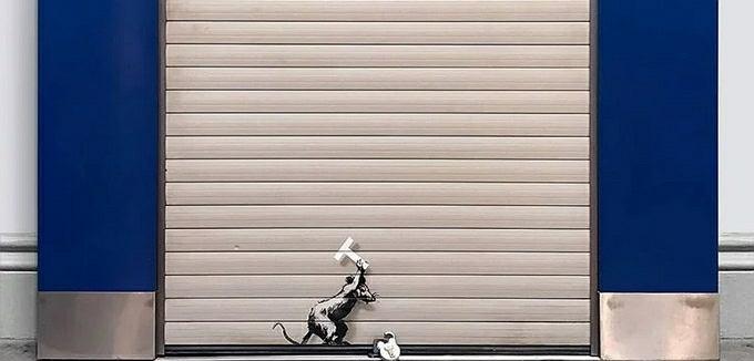 'Keep Ou' - Banksy