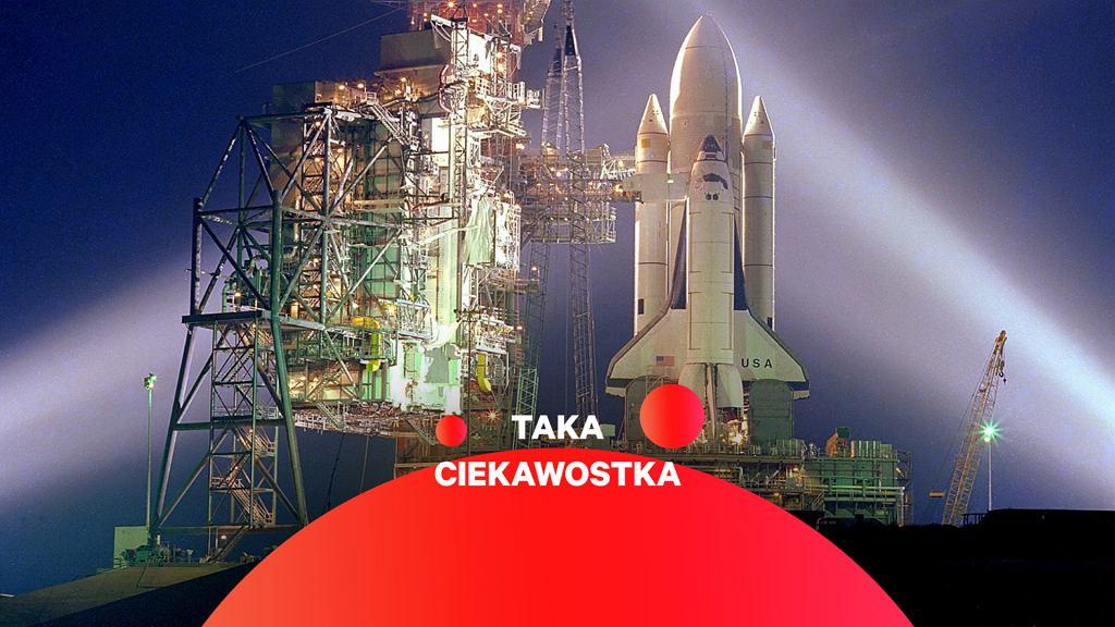 Wahadłowiec Columbia przygotowany do misji STS-1
