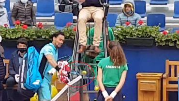 Fabio Fognini zdyskwalifikowany z turnieju w Barcelonie