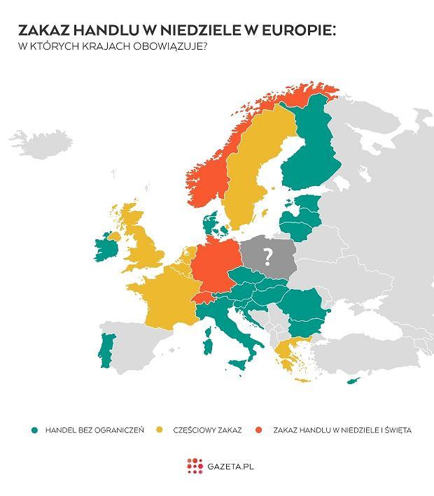 Zakaz handlu w niedziele w Europie. Gdzie obowiązuje?