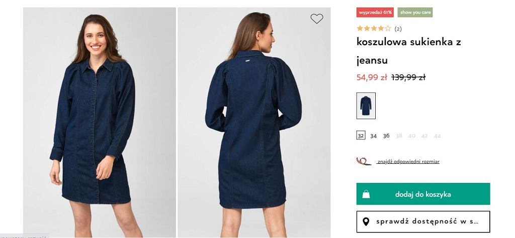 Koszulowa sukienka - Orsay