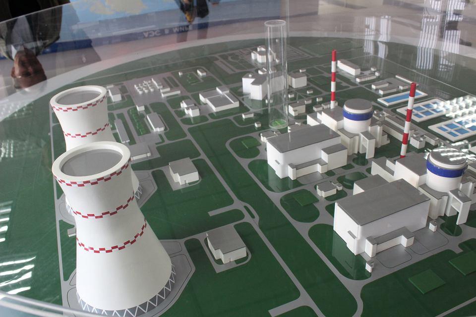 Makieta elektrowni atomowej w Ostrowcu na Białorusi