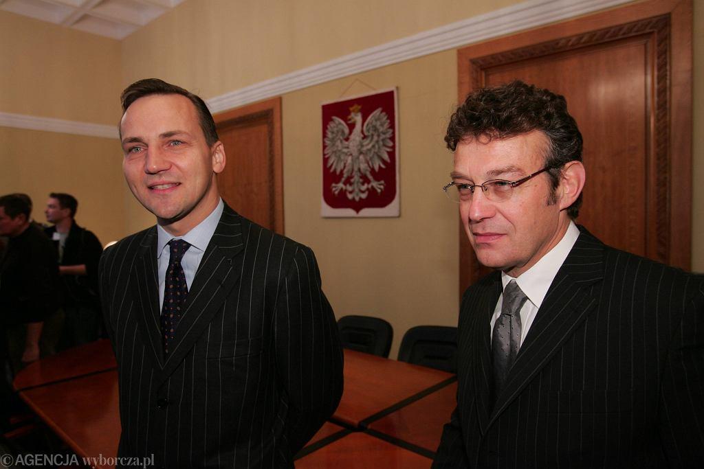 Radosław Sikorski i Ryszard Schnepf
