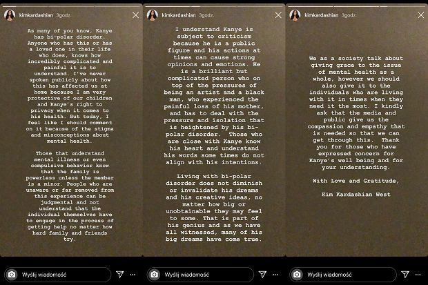 Oświadczenie Kim Kardashian