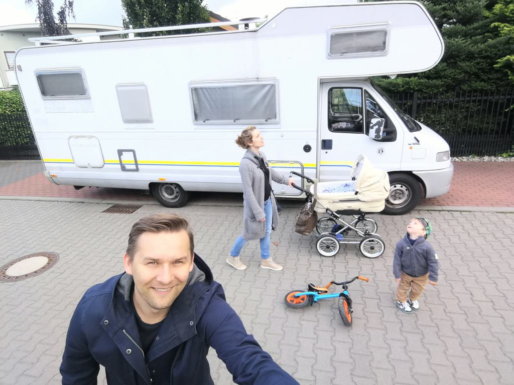Łukasz Smolarek z rodziną