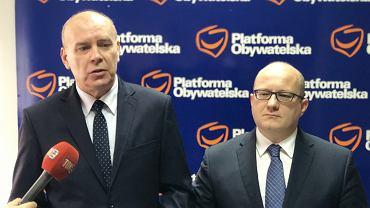Śląscy posłowie Platformy Obywatelskiej: Krzysztof Gadowski i Paweł Bańkowski