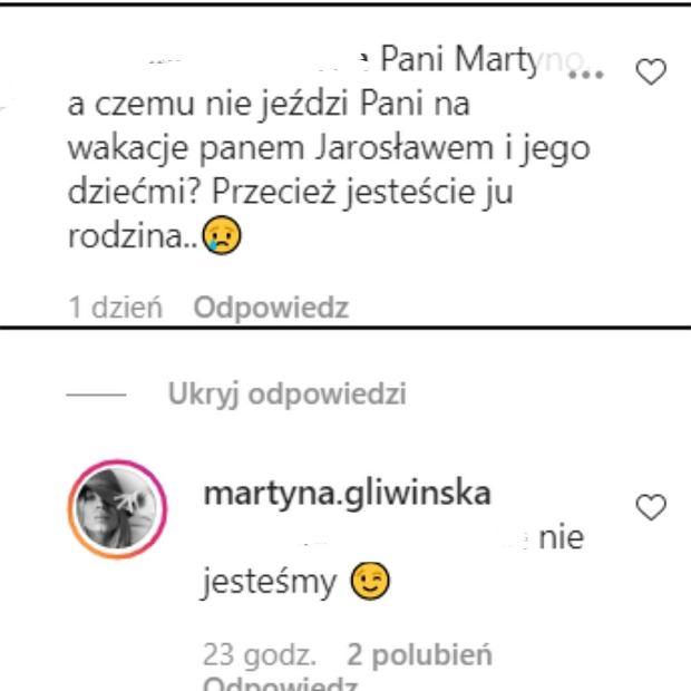 Martyna Gliwińska odpowiada na komentarz