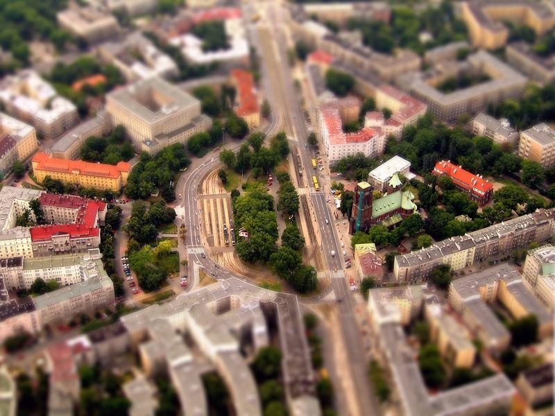 Plac Narutowicza z lotu ptaka