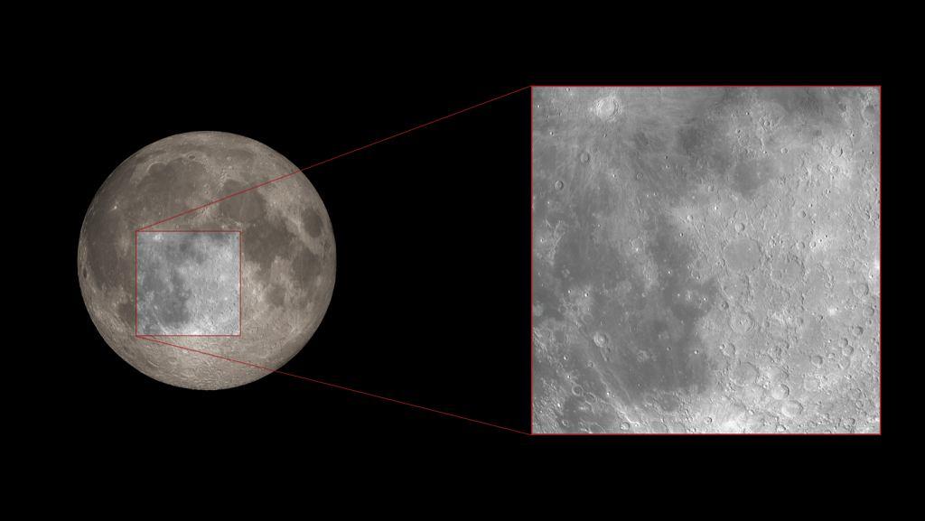 Obraz wykonany z Ziemi pokazujący miejsce, które badali naukowcy