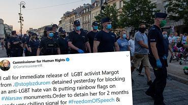 Komisarz praw człowieka Rady Europy wzywa do natychmiastowego uwolnienia Margot