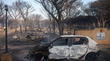 Pożary w okolicy miasta Huelva na południu Hiszpanii