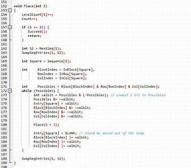 Fragment kodu napisanego przez premiera