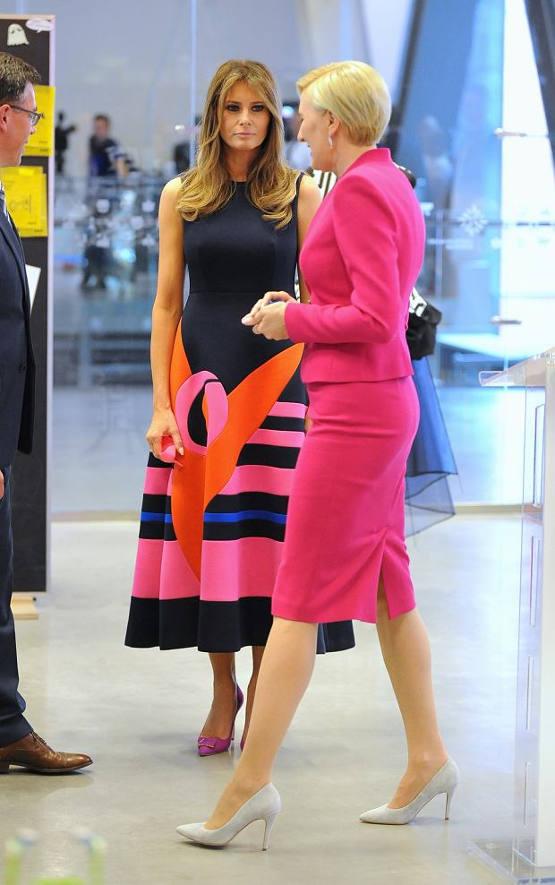 Photo: Bartosz Krupa/East News. US First Lady Melanie Trump and her Polish counterpart Agata Kornhauser-Duda visit the Copernicus Science Centre on July 6 in Warsaw, Poland. In the picture: Melanie Trump, Agata Kornhauser-Duda