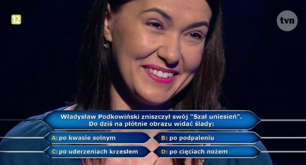 Katarzyna Romanek w 'Milionerach'