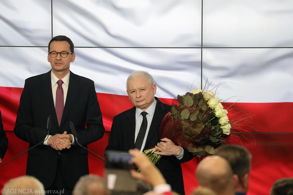 Prezes Jarosław Kaczyński i premier Mateusz Morawiecki - zdjęcie ilustracyjne