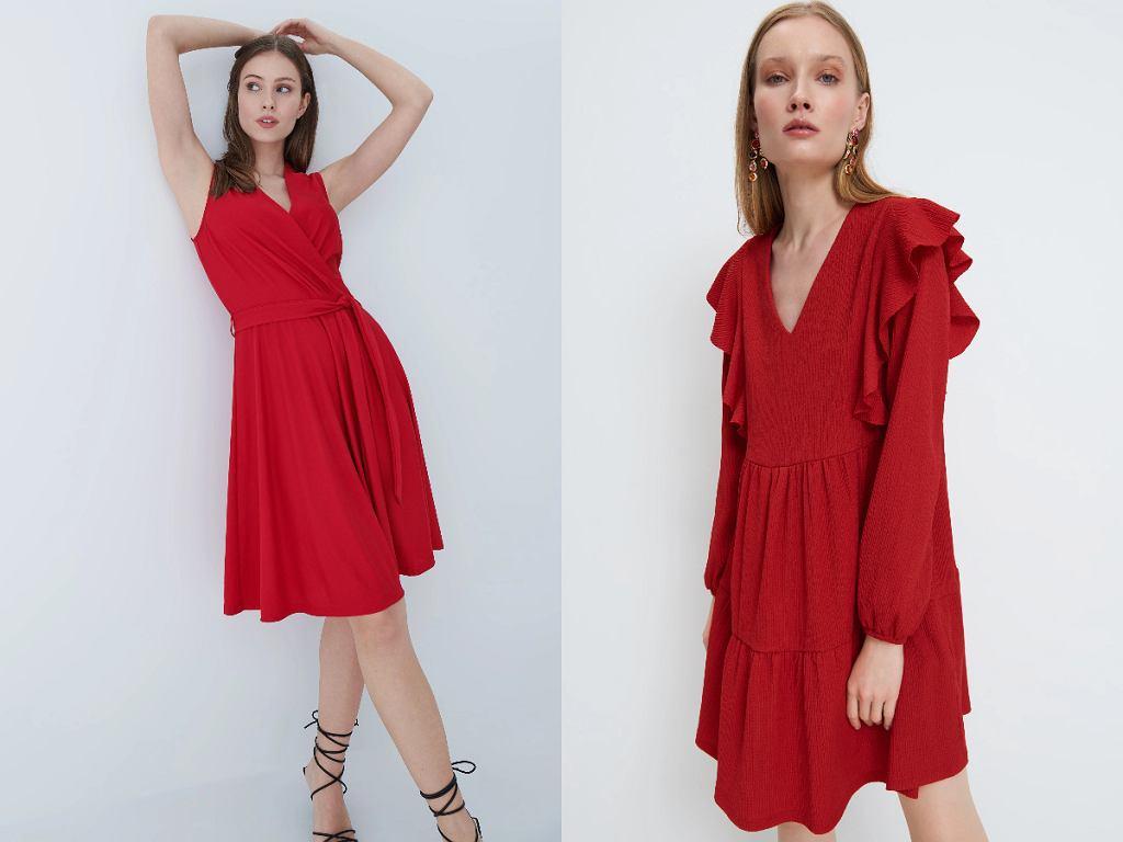 Czerwone sukienki na randkę