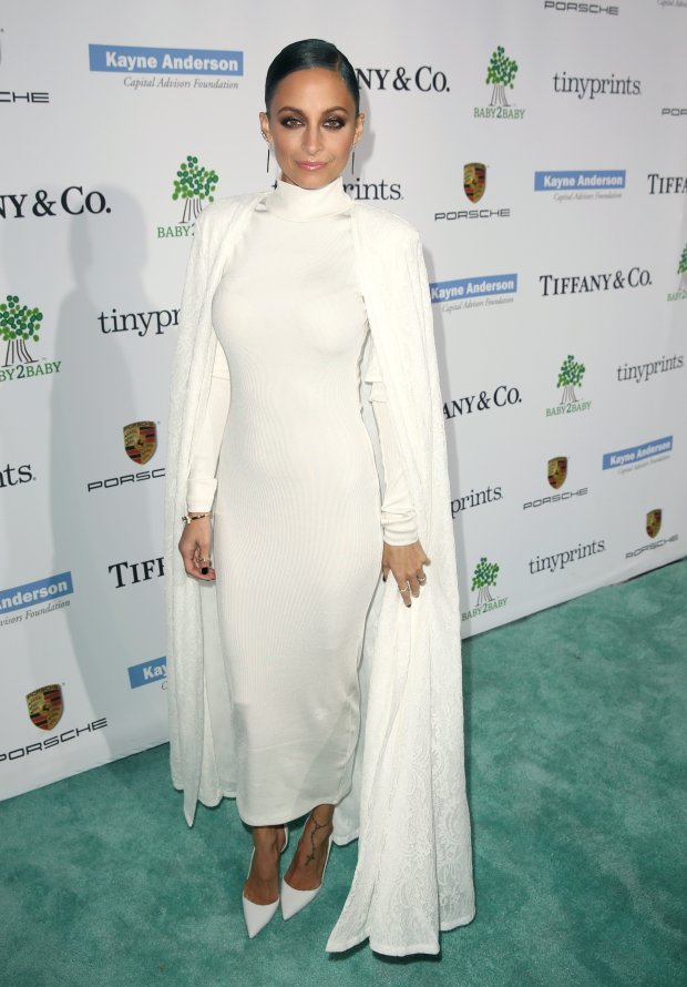 Nicole Richie arrives at the Third annual Baby2Baby Gala honoring Kate Hudson at The Book Bindery on Saturday, Nov. 8, 2014, in Culver City, Calif. (Photo by Matt Sayles/Invision/AP)