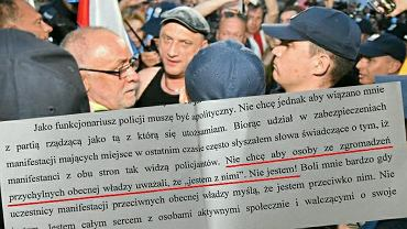 Policja i kontrmanifestanci na miesięcznicy smoleńskiej