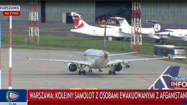 Kolejny samolot z osobami ewakuowanymi z Afganistanu wylądował w Warszawie