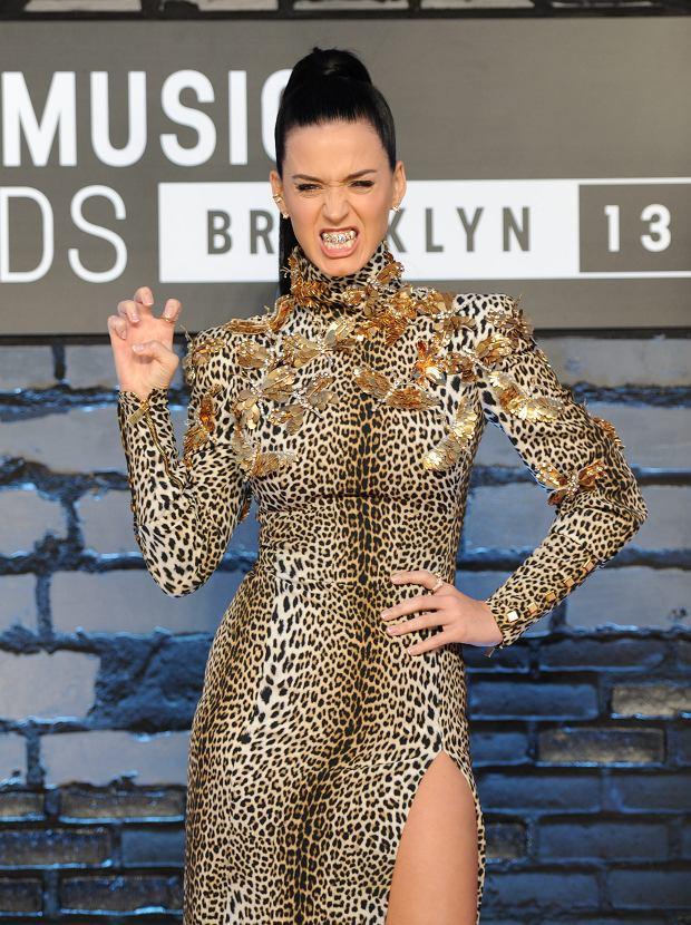 Katy Perry poses at the MTV Video Music Awards on Sunday, Aug. 25, 2013, at the Barclays Center in the Brooklyn borough of New York. (Photo by Evan Agostini/Invision/AP)