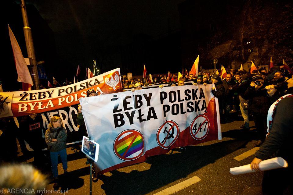 Marsz skrajnych prawicowców we Wrocławiu. Święto Niepodległości, 11 listopada 2019