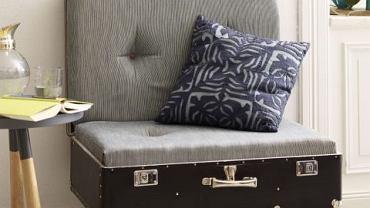 Fotel z walizki - DIY