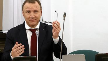 Prezes TVP Jacek Kurski podczas posiedzenia Sejmowej Komisji Kultury i Środków Przekazu dot. TVP Info. Warszawa, Sejm, 9 stycznia 2018