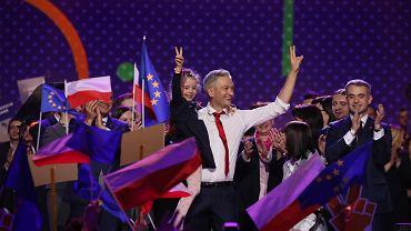 Robert Biedroń na konwencji partii Wiosna na Torwarze w Warszawie
