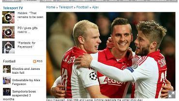 """Screen z serwisu dziennika """"De Telegraaf"""""""