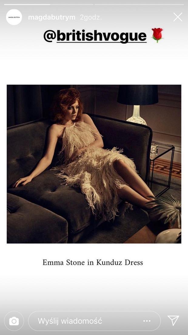 Emma Stone w kreacji Magdy Butrym