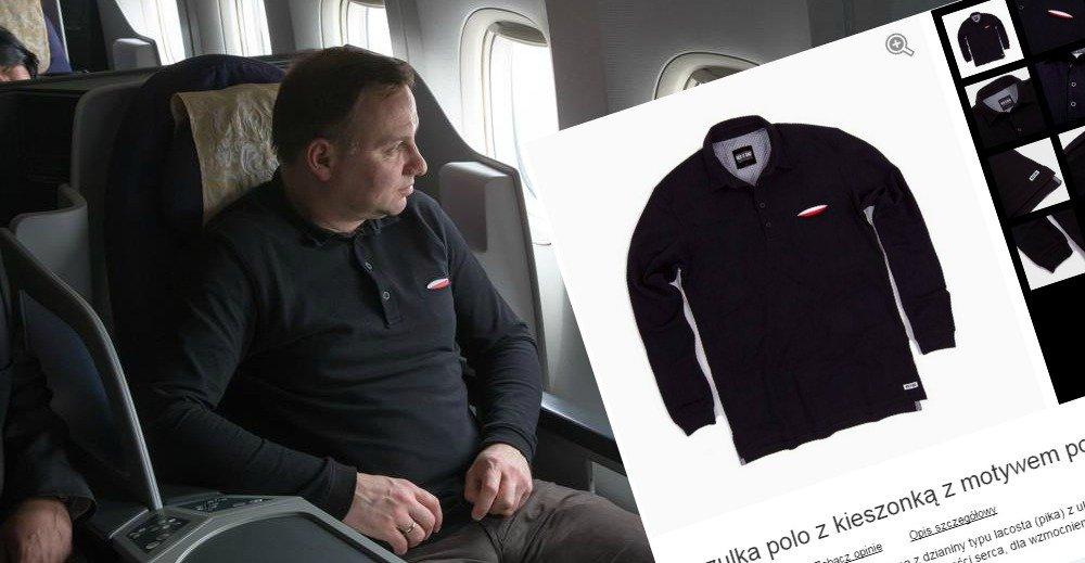 Prezydent w drodze do Chin w koszulce marki Red is Bad