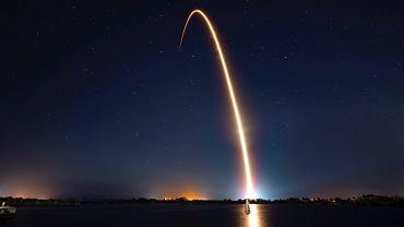 Start statku Bereszit z kosmodromu na Florydzie