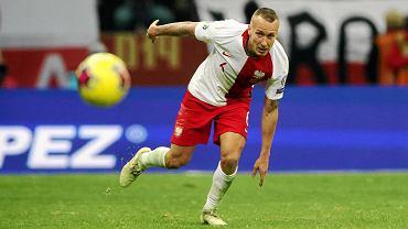 Jacek Góralski podczas meczu reprezentacji Polski ze Słowenią w eliminacjach Euro 2020