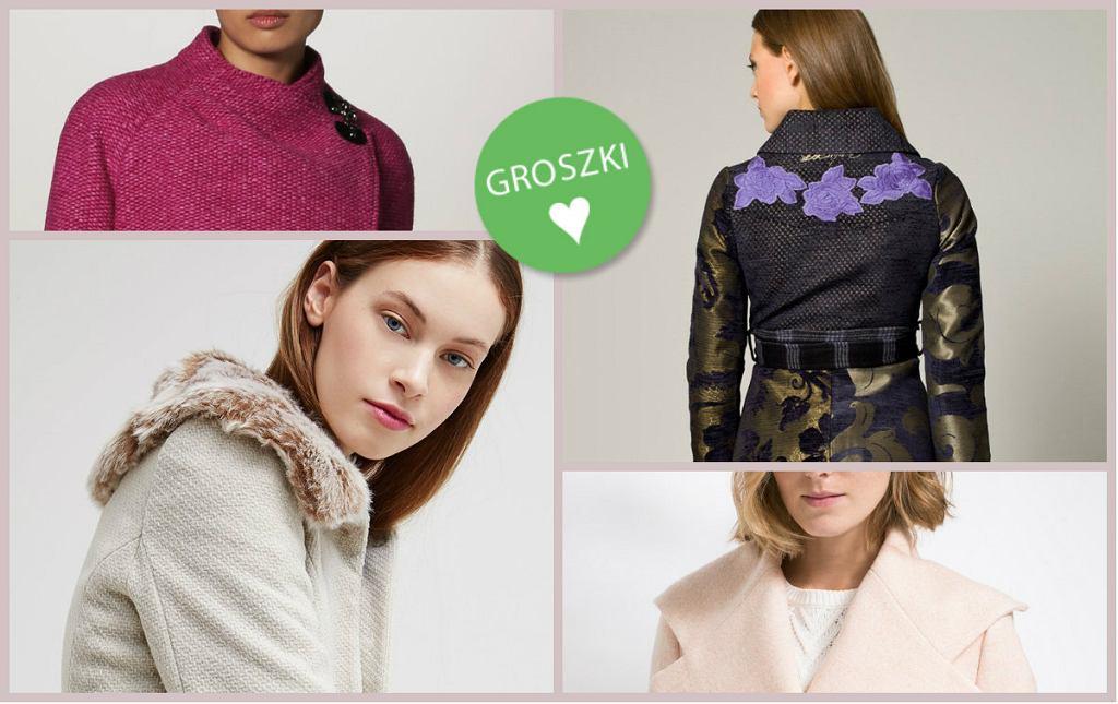 kolorowe płaszcze na zimę
