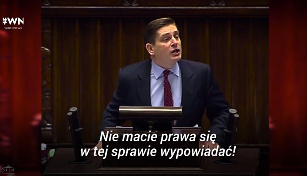 Bartosz Kownacki w Sejmie